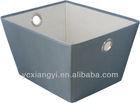 gray nonwoven storage box/ Multi-use Storage Bin with Eyelet Handle
