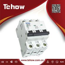 Mini Air type circuit breaker(MCB), with CE, CCC, CQC, ISO9001, 3 pole, DZ47, C45N breaker