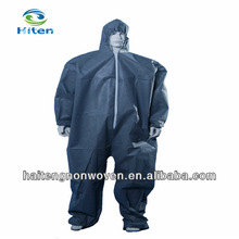 Water-resistant and waterproof disposable nonwoven coveralls
