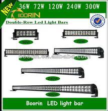China supply double/single row 24V 6000k IP67 spot and flood energy saving led light bar for truck,boat,ATV