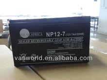 UPS inverter battery charger battery 12v7ah for UPS