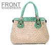New Model Lady Handbag Wholesale Ostrich Leather Handbag