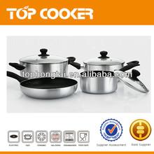 7Pcs Mirror Polished Aluminium Non-stick Coating Cookware