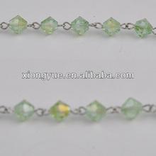 crystal glass diamond bead chaining jewelry accessor