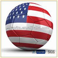 National flag printed high quality soccer ball