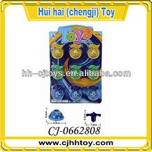 9pcs musical spinning tops flashing peg-top toys