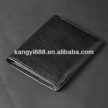 2015new season hotsale OEM genuine leather PU leather men bi-fold wallet with coin pocket