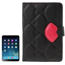 Monroe Lips Style Soft Leather Case with Lanyard for iPad mini