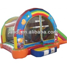 commercial grade pvc inflatable moonwalk with slide