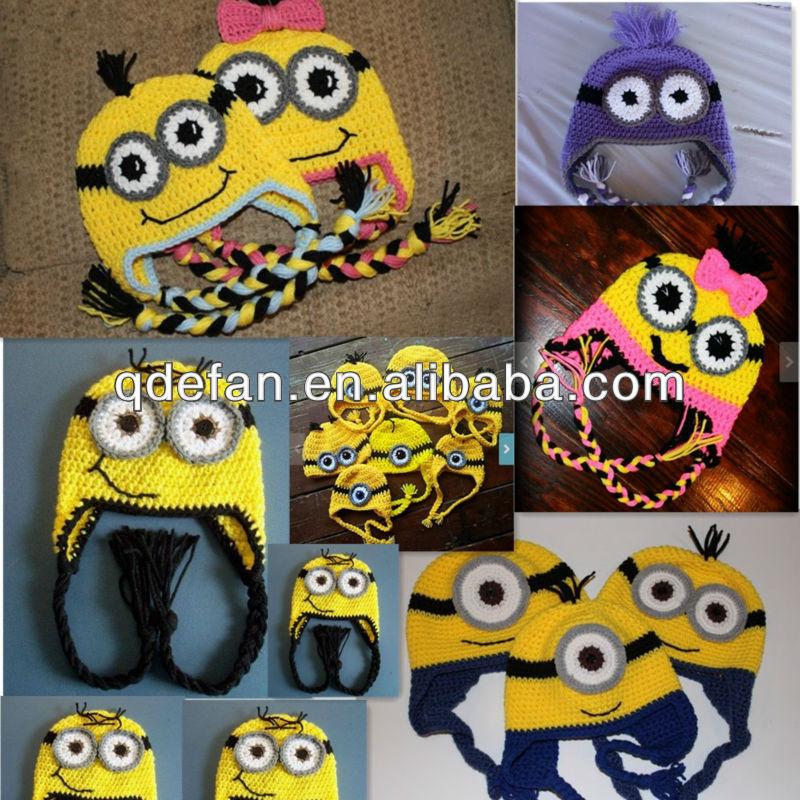 Baby crochet minion hat minion beanie hat baby hats, View crochet