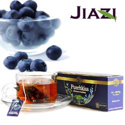 Puer blueberry tea health certificate tea