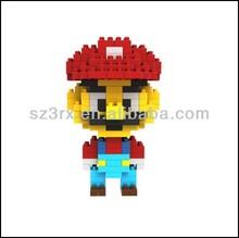 3D super Mario plastic building blocks toys, plastic toy wholesale super mario bros, pvc building blocks toys