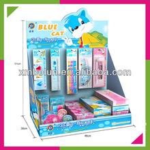 Custom promotional cardboard hanging pens counter display