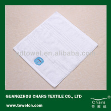 100% cotton high quality white hand towel with embroidery logo