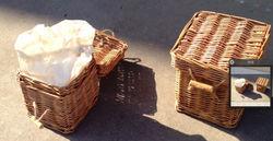 Wicker urns/caskets
