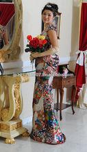 Modern Kimono Fabric Wedding Dresses
