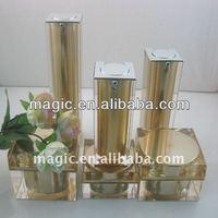 luxury cosmetic jar Clear Cubic Thick Wall Luxury Acrylic Cosmetic Jar Pot