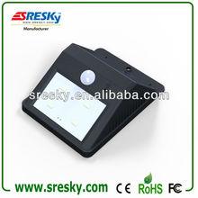 2014 sresky senza fili a buon mercato esterna della parete solare lampada con sensore di movimento