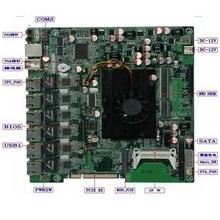 Firewall Motherboard D525MF6,Mini itx Motherboard for 6 LAN 5 LAN,12V DC IN,Intel atom d525+GMA3150,for Gateway,180x220mm