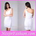 venta al por mayor blanco desnuda más el tamaño de vendaje bodycon vestido