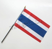 with plastic polyester hand flag