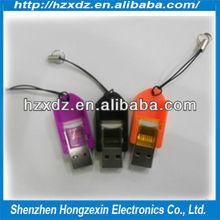 Leaf shape memory card reader support mobile phone TF card