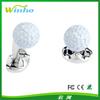 Solid Silver And Enamel Golf Ball Cufflinks