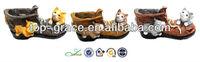 Resin cat animal garden boot planter