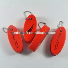 Factory price promotional gift pu floating key chain with oval shape