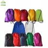 Colorfull polyester drawstring bag with logo printed