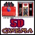 El cine de entretenimiento de equipos, 5d, 6d, 7d, 8d, 9d cine teatro, atractivo 5d simulador de cinema