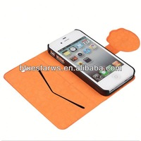 2014 high quality for iphone4 pu leather case carry case for iphone
