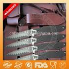 Fixed damascus steel knife blanks leather sheath