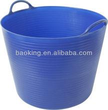 45L Garden plastic flexible pe soft tub, plastic bucket