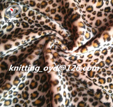 hot 100 polyester warp knitting leapared print short pile/hair fabric/textile for toy,sofa,shoes & garment