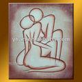 venta al por mayor más nuevo diseño hecho a mano de sexo abstracto pintura al óleo