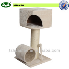 new pet product with cave and ball&sleeping cat tree &pet bed