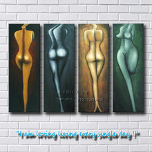 hand made abstract nude body canvas painting
