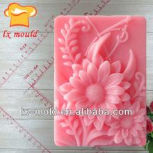 fashion 3d flower shape soap mold