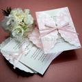 الشريط بطاقة دعوة الزفاف بطاقة الزفاف الفاخرة فريدة المسيحية