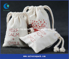 AZO free organic jewelry bag cotton