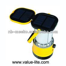 High power 8 LED Camping Lantern wtih solar panel