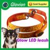 Super Orange LED dog leash Leopard flashing dog leash Glowing pet leash