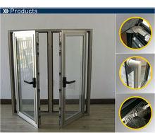 Modern brushed aluminum cabinet door handles