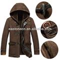 2014 муёская мода капот стиль suede зимняя куртка