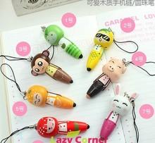 Cute cartoon animal wooden pen hot sale