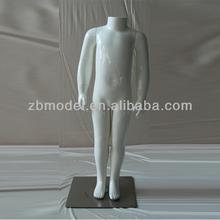 High glossy headless full body mannequin children