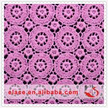 Venda quente designer punjabi vestido líquido material solúvel em água bordado 100% algodão africano swiss lace doilies