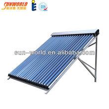 Heat pipe plastic solar pool water heater collectors