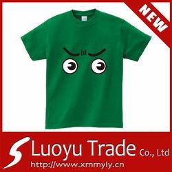 Green T-shirts Eyes Printing